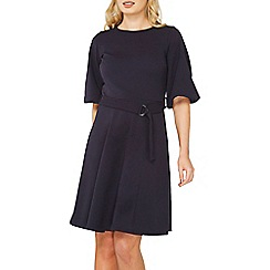 Dorothy Perkins - Navy d-ring fit and flare dress