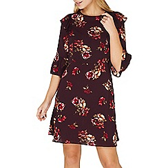 Dorothy Perkins - Purple floral print fit and flare dress