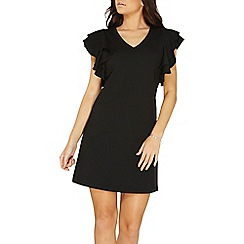 Dorothy Perkins - Black ruffle sleeves shift dress