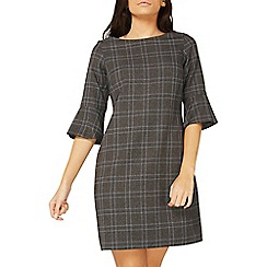 Dorothy Perkins - Grey checked zip pocket shift dress