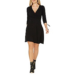 Dorothy Perkins - Black wrap fit and flare dress