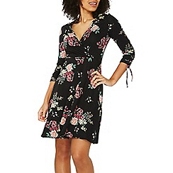 Dorothy Perkins - Black floral print wrap dress