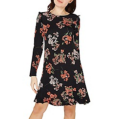 Dorothy Perkins - Black floral swing dress