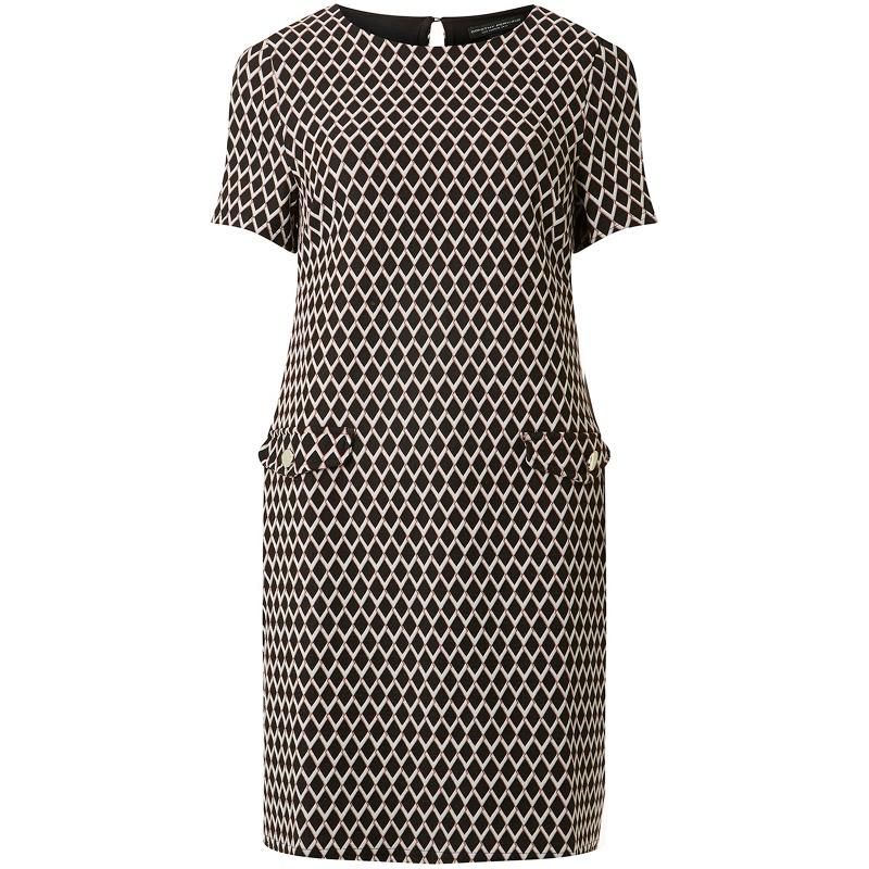 Dorothy Perkins Black Geometric Print Shift Dress 560 Port