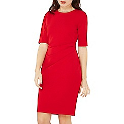 Dorothy Perkins - Red half sleeve ruched bodycon dress