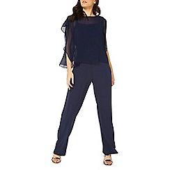 Dorothy Perkins - Navy overlay jumpsuit