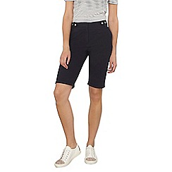 Dorothy Perkins - Tall navy poplin knee shorts