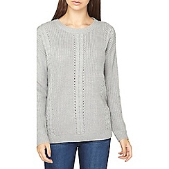 Dorothy Perkins - **tall grey cable front jumper