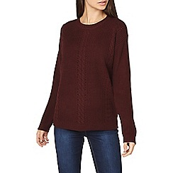 Dorothy Perkins - **tall red cable front jumper
