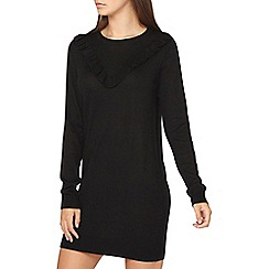 Dorothy Perkins - **tall black frill yoke jumper dress