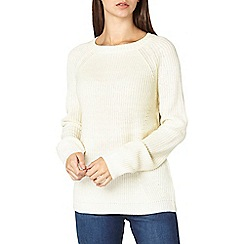 Dorothy Perkins - **tall ivory zip back crew neck jumper