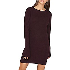 Dorothy Perkins - **tall purple 'aubergine' knitted tunic dress