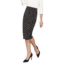 Dorothy Perkins - Tall black spotted tube skirt