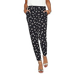 Dorothy Perkins - **Tall navy floral pique trousers
