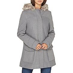 Dorothy Perkins - **tall grey utility duffle coat