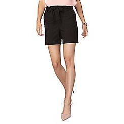 Dorothy Perkins - **Tall black tie waist shorts