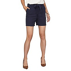 Dorothy Perkins - **Tall navy tie waist shorts