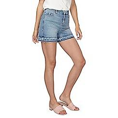 Dorothy Perkins - **tall mid wash let down hem shorts