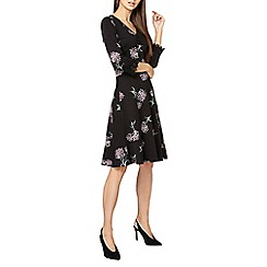 Dorothy Perkins - **tall black floral print skater dress