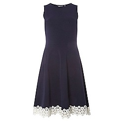 Dorothy Perkins - **tall navy and ivory hem fit & flare dress