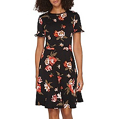 Dorothy Perkins - **Tall red and black floral print dress