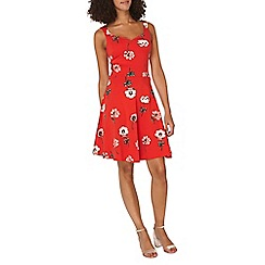 Dorothy Perkins - **Tall Multicoloured sleeveless floral print skater dress