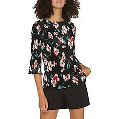 Dorothy Perkins - **tall multi coloured floral print plisse top