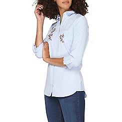 Dorothy Perkins - **tall blue twig floral print shirt