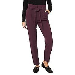 Dorothy Perkins - **tall purple paper bag tie waist trousers