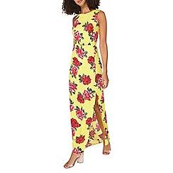 Dorothy Perkins - **tall yellow floral print maxi dress