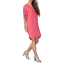 Dorothy Perkins - **tall pink tie sleeve shift dress