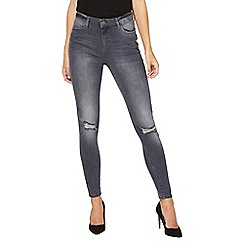 Dorothy Perkins - **tall grey graphite rip knee 'darcy' jeans