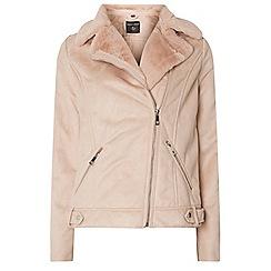 Dorothy Perkins - **tall:blush faux shearling jacket