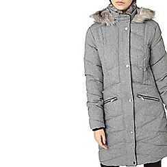 Dorothy Perkins - **tall grey smart puffer jacket