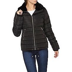 Dorothy Perkins - Tall black collar padded jacket
