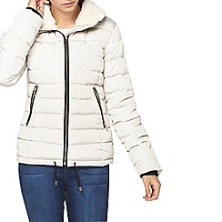 Dorothy Perkins - Tall grey collar padded jacket