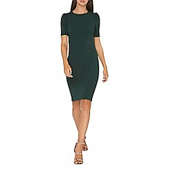 Dorothy Perkins - **tall green puff sleeves bodycon dress