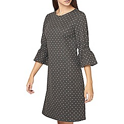 Dorothy Perkins - **tall grey spotted swing dress