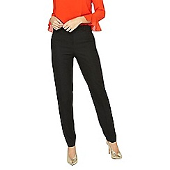 Dorothy Perkins - Tall black pique slim fit trousers