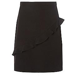 Dorothy Perkins - **tall black ruffle mini skirt