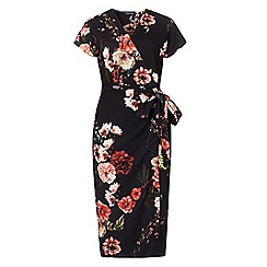 Dorothy Perkins - **tall floral print crepe wrap dress