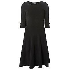 Dorothy Perkins - Tall black bow sleeve fit and flare dress
