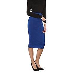 Dorothy Perkins - Tall cobalt scuba pencil skirt