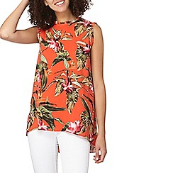 Dorothy Perkins - **tall orange tropical shell top