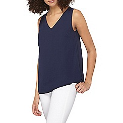 Dorothy Perkins - Navy cross back built up top