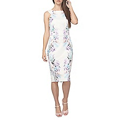 Dorothy Perkins - Tall ivory print pencil dress
