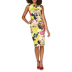 Dorothy Perkins - **tall lime floral pencil dress