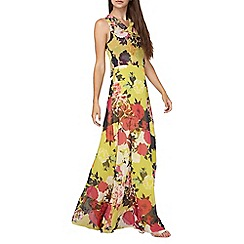 Dorothy Perkins - Tall lime floral maxi dress