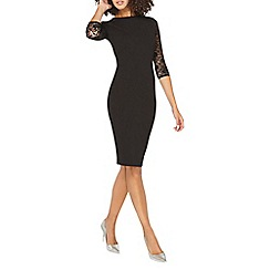 Dorothy Perkins - **tall black lace sleeves bodycon dress