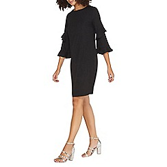 Dorothy Perkins - **tall black ruffle sleeves shift dress